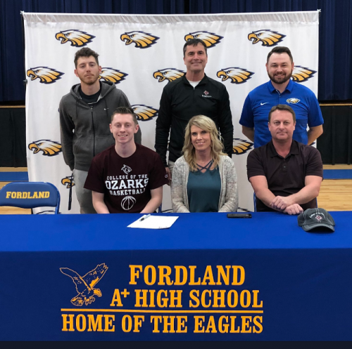 Signing Letter of Intent to College of the Ozarks