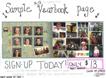 2018 Yearbook Flyer