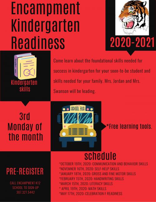 Encampment K12 KG Readiness Schedule 2020-2021