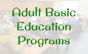 Text-based image: Adult Basic Education program