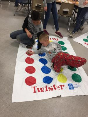 Competitive game of Twister!