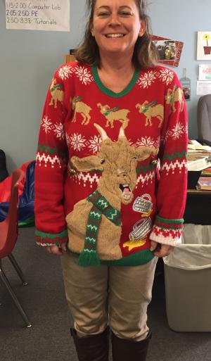 Ugly Sweater Contest Winner!