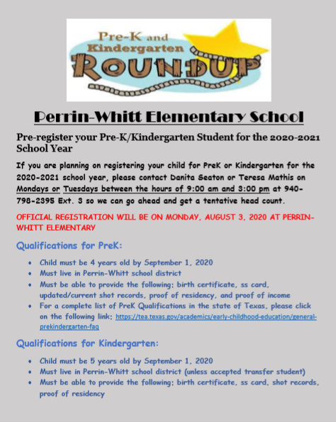 Pre-K and Kindergarten Roundup