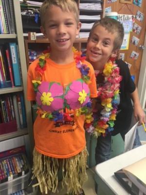 Hawaiian Day for Pep Rally