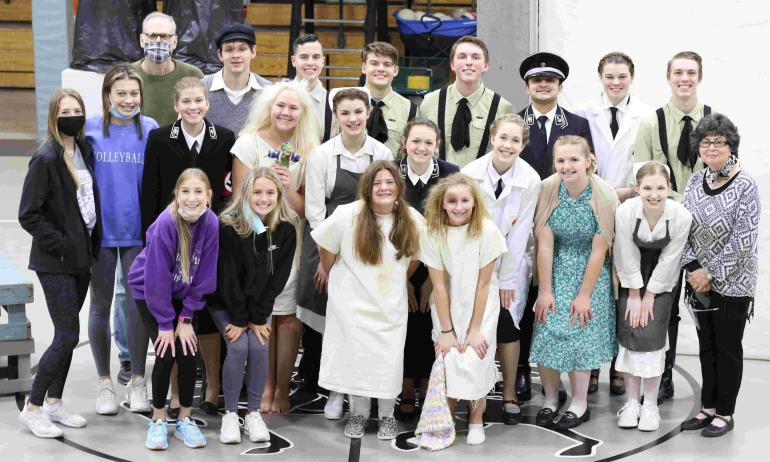 OAP group picture taken after the open dress rehearsal