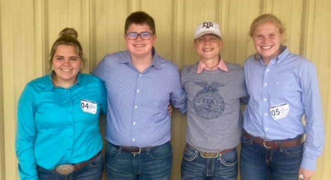 FFA dairy judging team photo