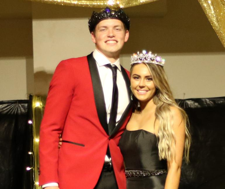 Nash Dieter and Lauren Colwell, prom royalty.