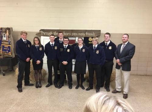 2018-2019 Lindsay FFA Officer Team