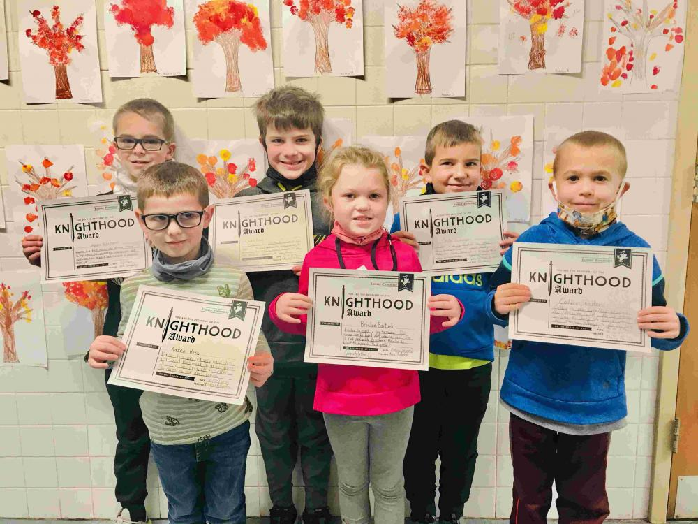 elementary knighthood winners for the second six weeks