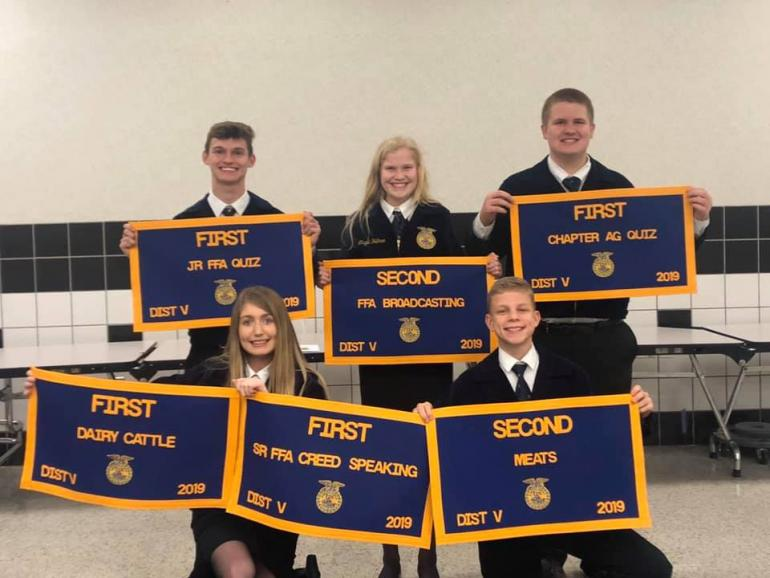 FFA officers with banners