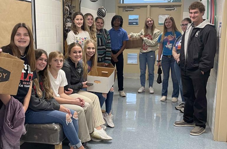 floral design students are delivering Homecoming mums