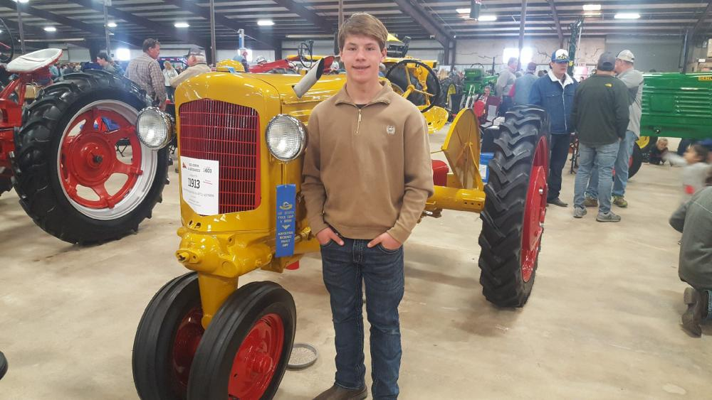 Simon Thurman with tractor at San Antonio