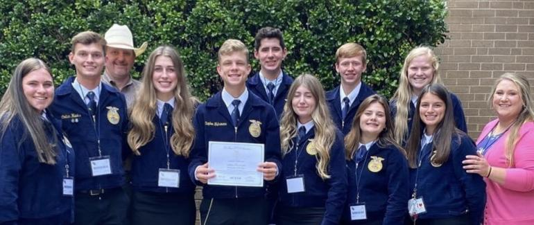 FFA members at State convention