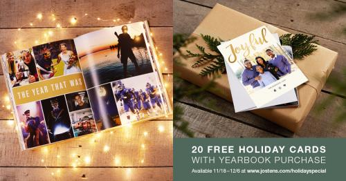 Yearbook Offer - Free Holiday Cards