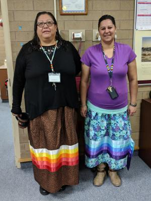 Pam Gambler and Shantell Cady proudly celebrating Native American Heritage Month