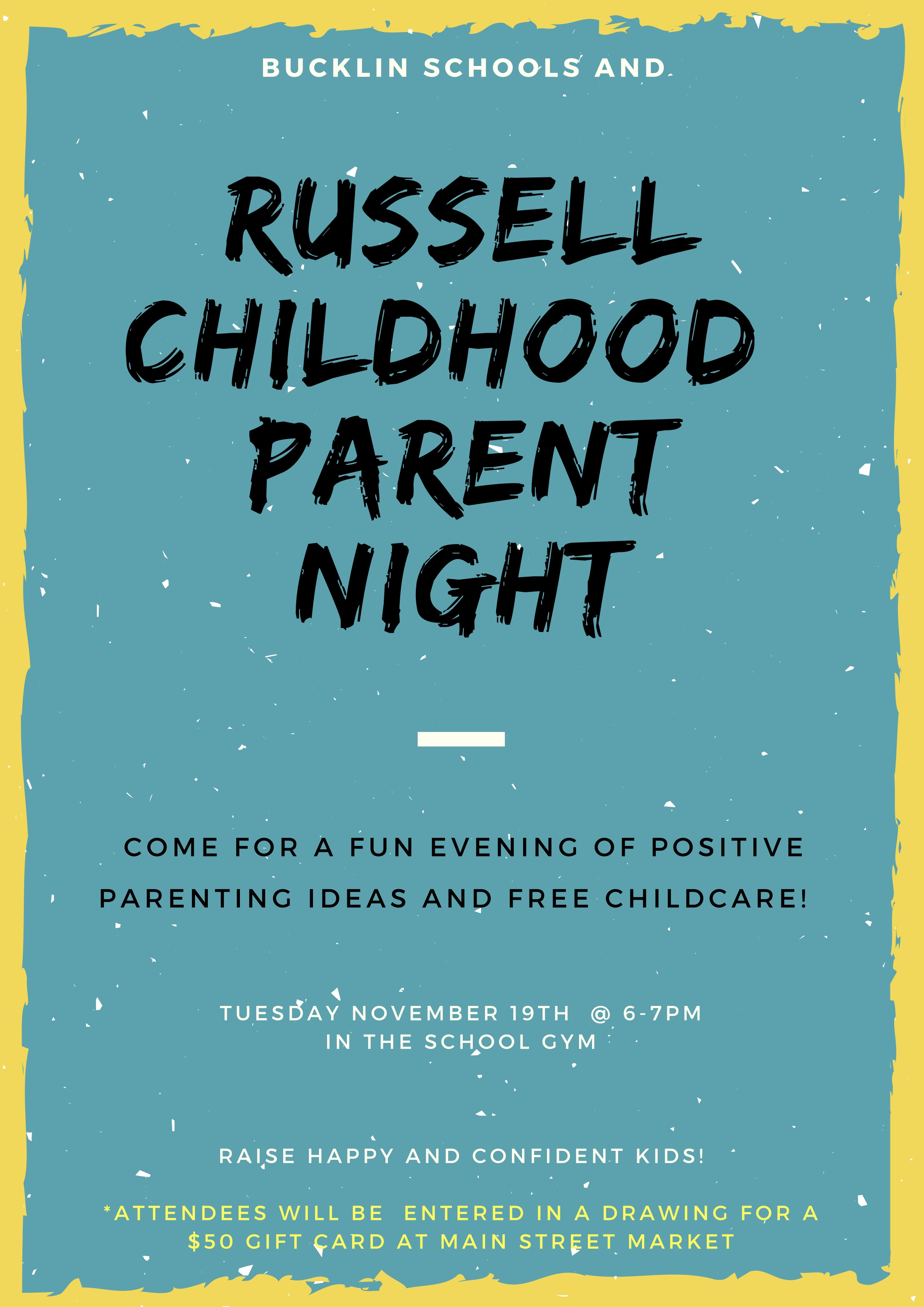 Russell Childhood Parent Night