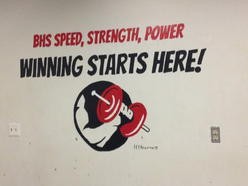 Weight Room Banner
