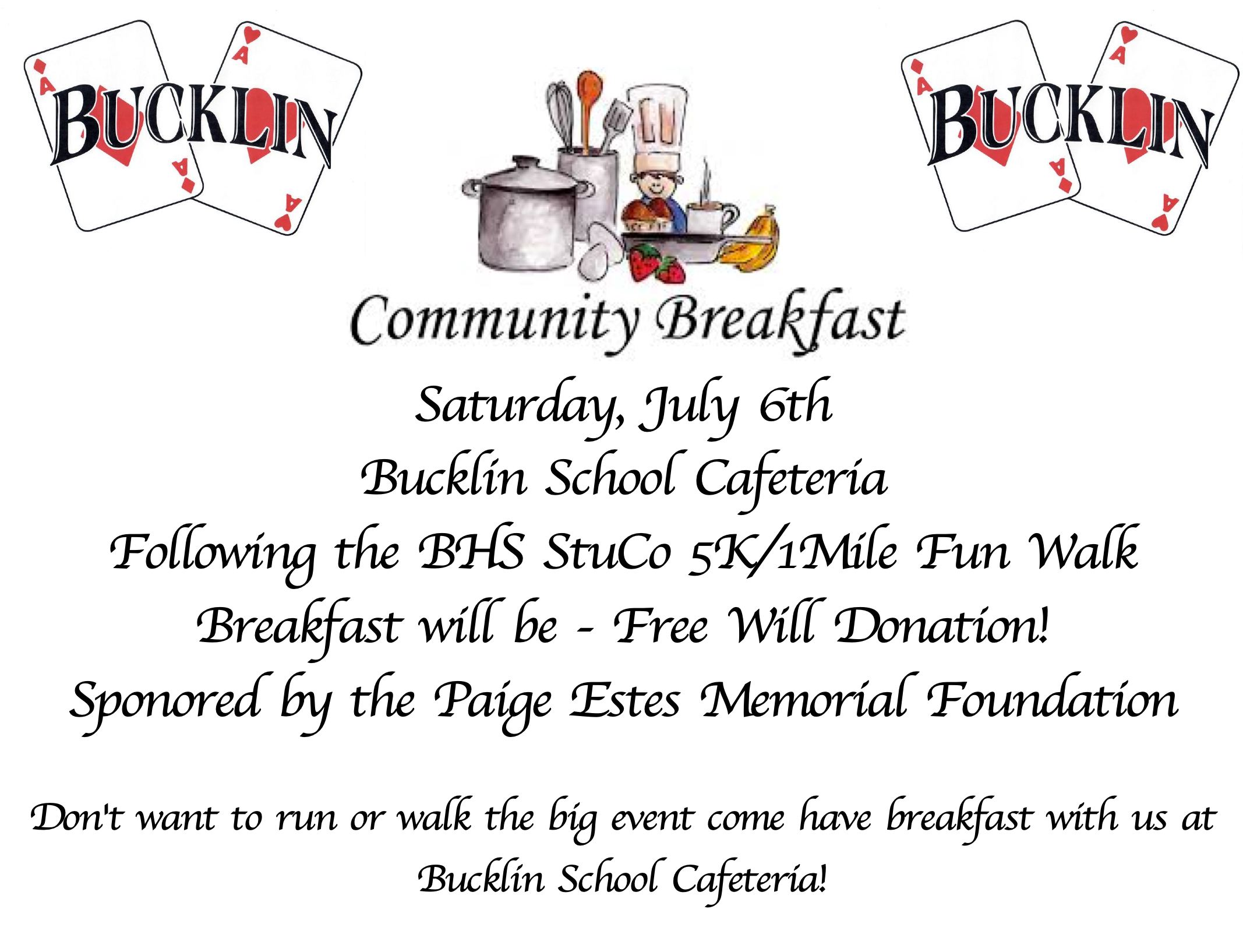 Community Free Will Breakfast