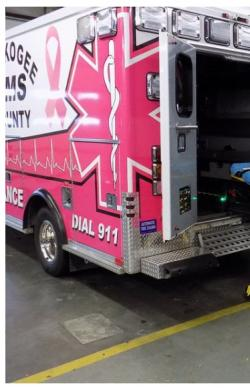Muskogee Phoenix: Newest county EMS vehicle has a pink hue