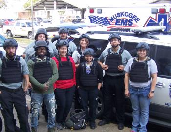 Okla. EMS, Fire and Police Personnel Partake in Active Shooter Training by 08/30/2017 Wendy Burton