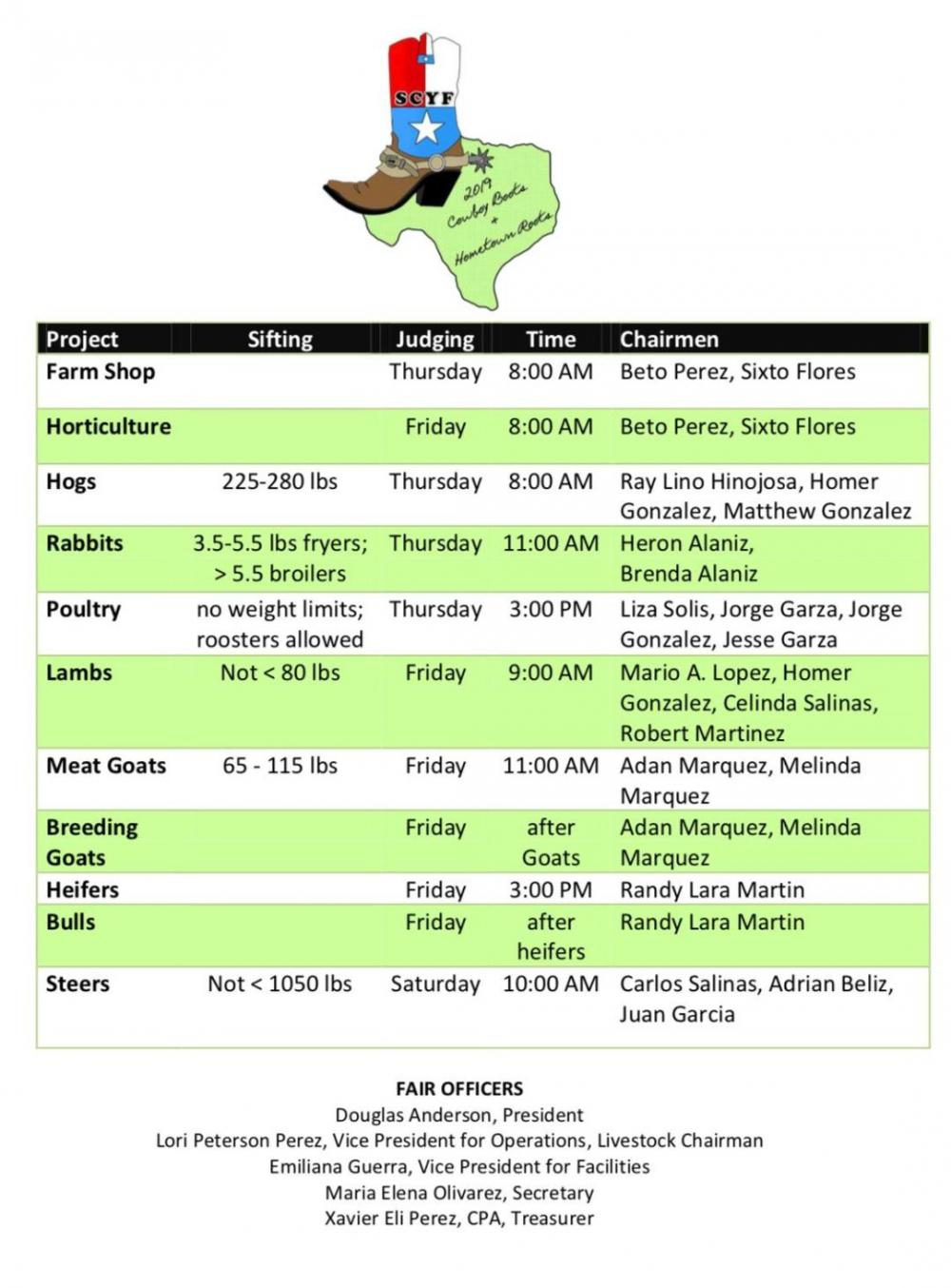 Weight Limits & Show Times