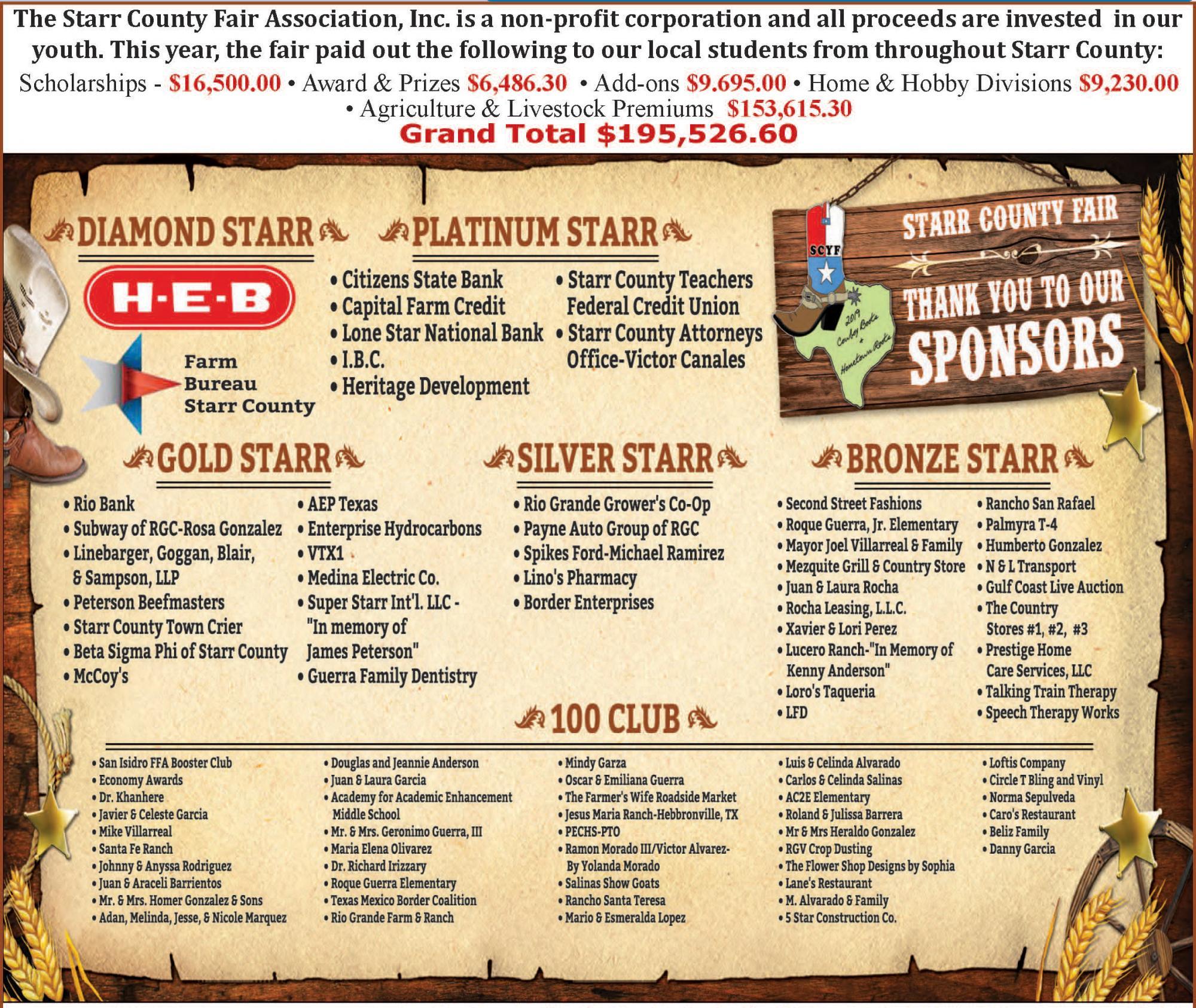 2019 Fair Sponsors