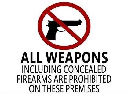 Concealed Firearms Prohibited