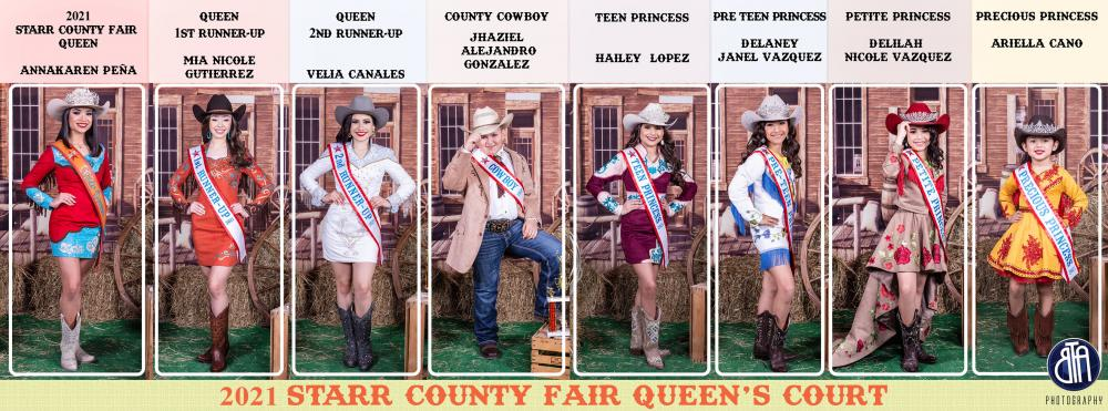 2021 Starr County Fair Queen and Court
