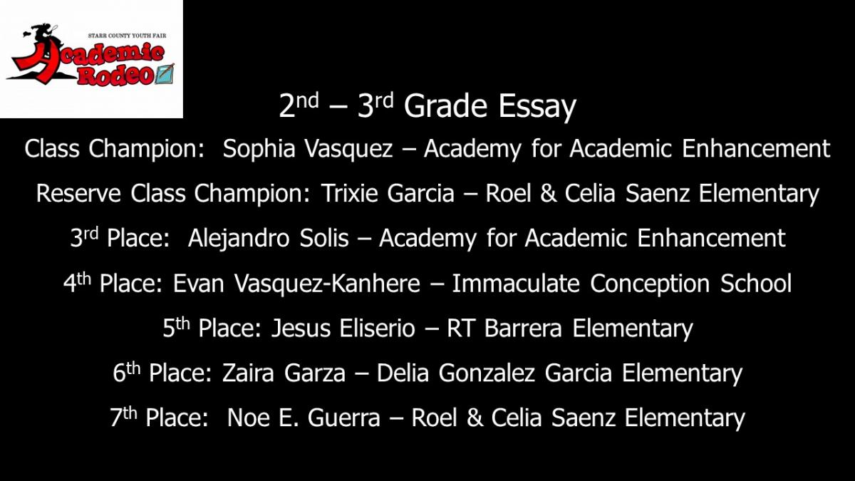 2nd-3rd grade essay results