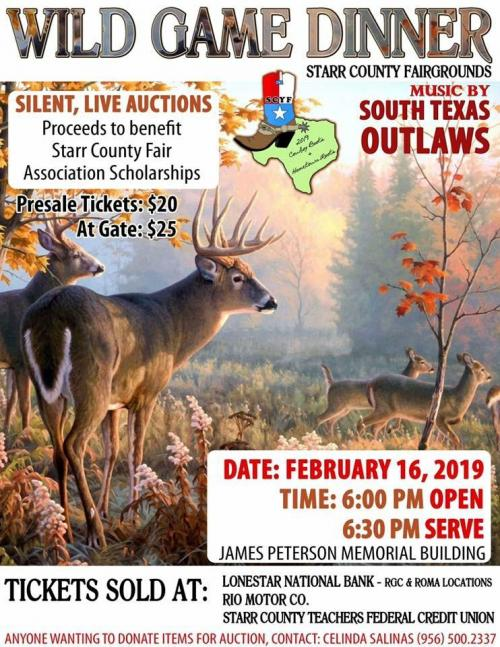 2019 Wild Game Dinner and Dance Flyer