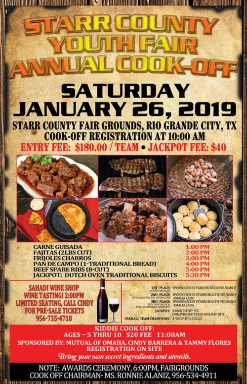 2019 Cook Off Flyer