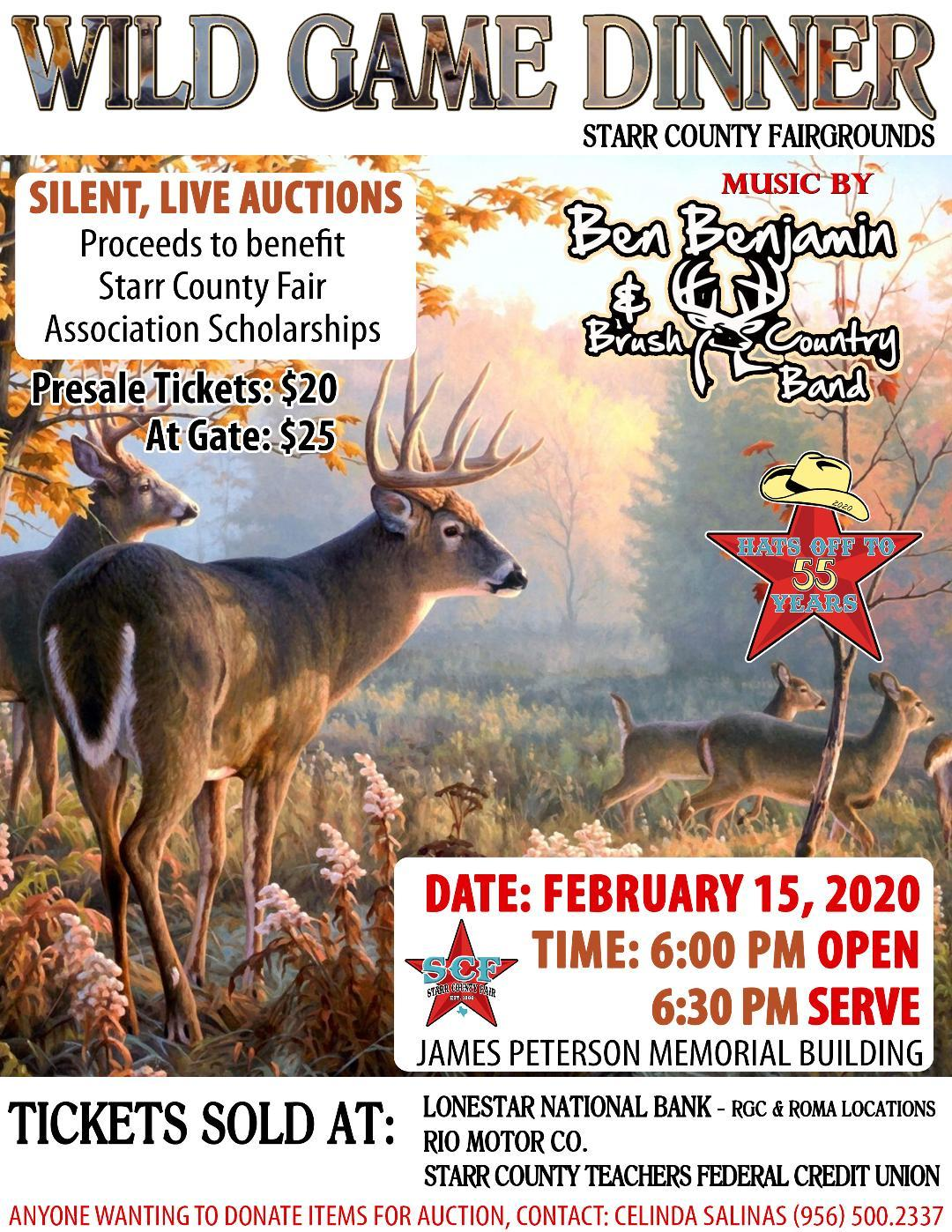 Wild Game Dinner & Dance flyer