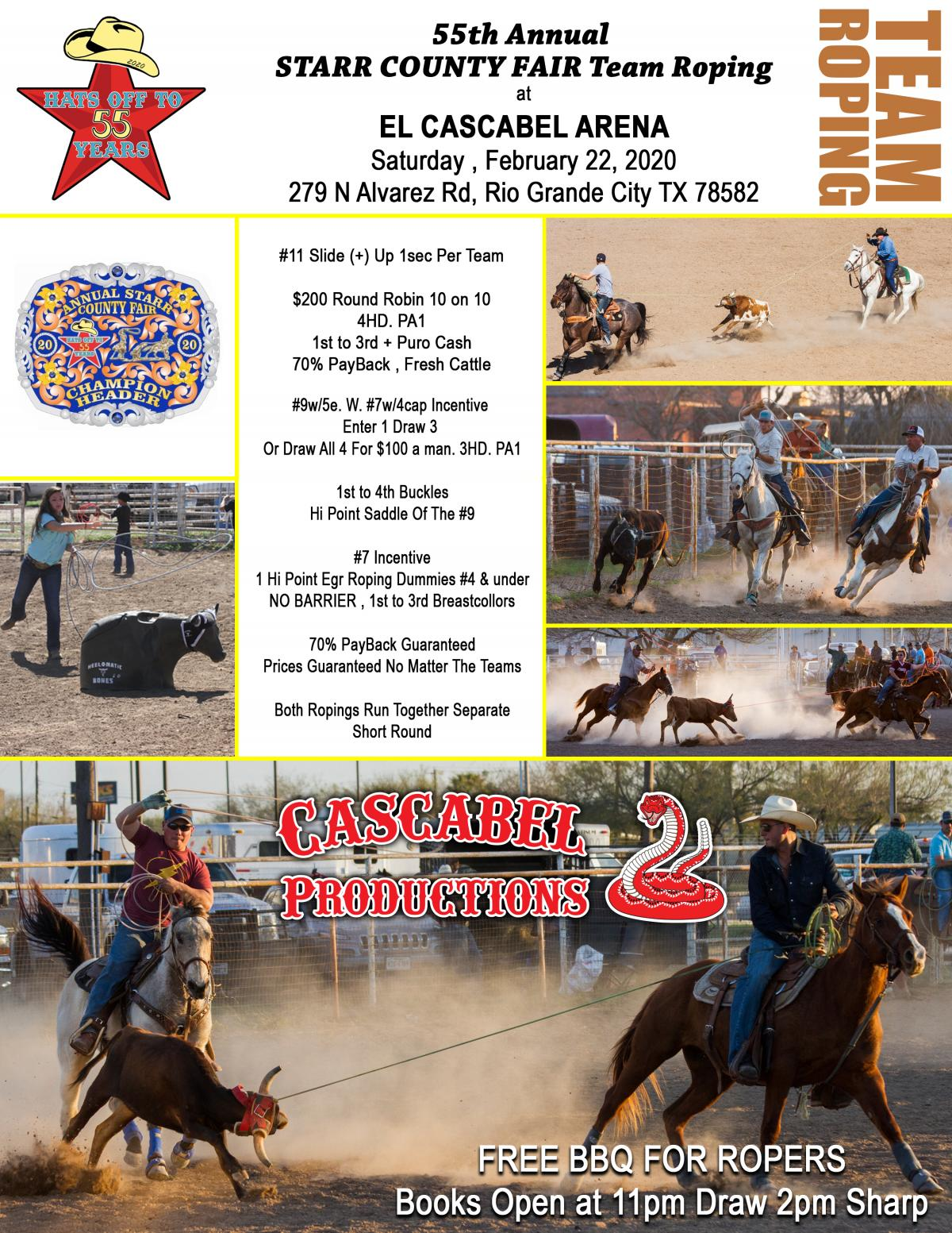 2020 Team Roping Flyer