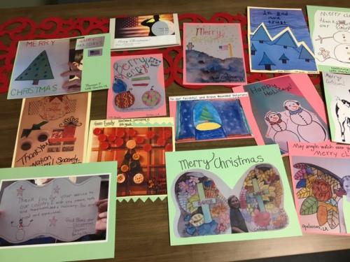 collage of handmade Christmas cards