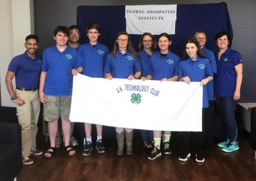 Group photo of the third place champions the Greater Baton Rouge Region 4-H Tech Club