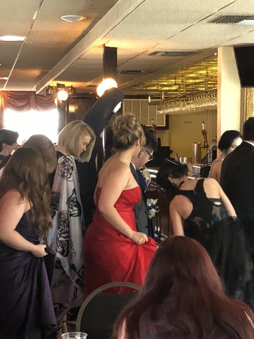 people dancing at 2018 prom