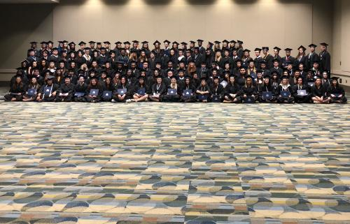 Group photo of the University View Class Of 2018
