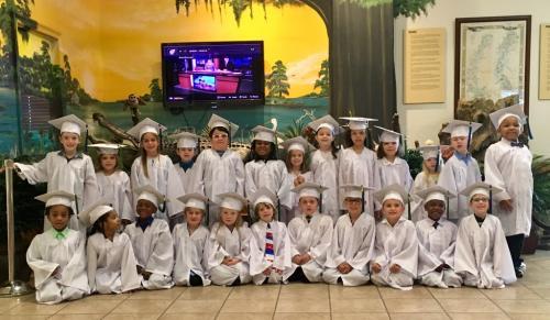 group photo of the Kindergarten Class of 2018