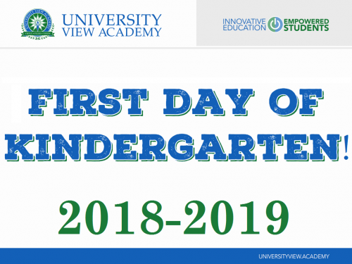first day of Kindergarten 2018-2019 sign