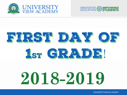 first day of 1st grade 2018-2019 sign