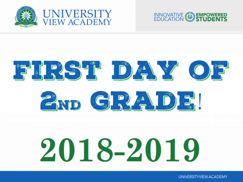 first day of 2nd grade 2018-2019 sign