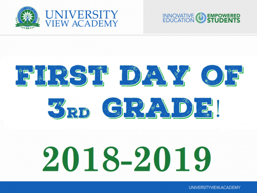 first day of 3rd grade 2018-2019 sign