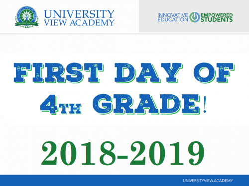 first day of 4th grade 2018-2019 sign