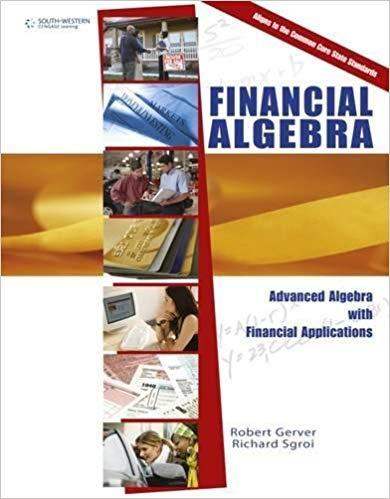 Financial Algebra Textbook