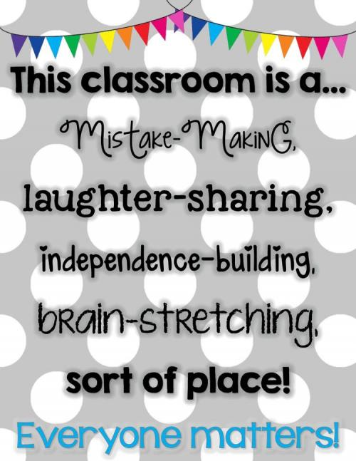 Our classroom is...