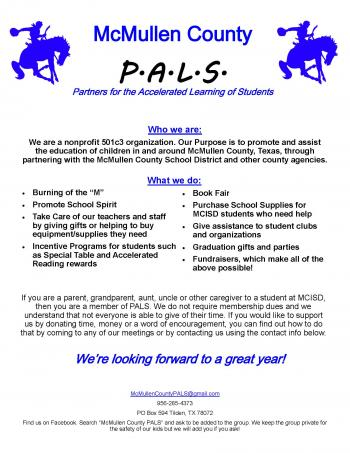 PALS information flyer
