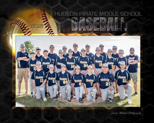 Hudson Pirate Middle School Baseball Team