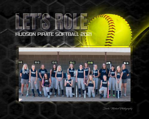 Hudson Pirate Middle School Softball Team