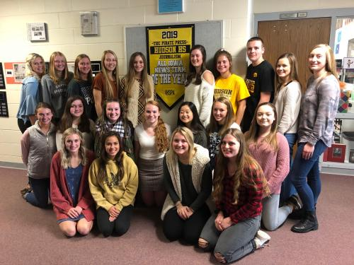 Pictured is the 2019-2020 Journalism 2/3/4 students. These students create the high school newspaper, district yearbook, newspaper website