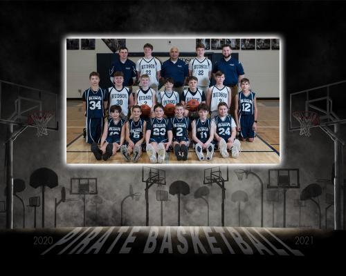 Hudson MS Boys Basketball Team